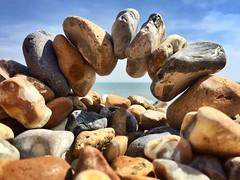Bridge of stones (davellani) Tags: nature arch rocks englishchannel sea 1stattempt unusual art bridge stones beach hythe