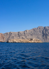 Telegraph island, Musandam Governorate, Khasab, Oman (Eric Lafforgue) Tags: arabia arabianpeninsula beautyinnature cliff colorimage copyspace day elphinstoneinlet exclave fjord gulfcountries jazīratalmaqlab khasab khasabbay khorashsham majestic mountain mountainrange musandam musandampeninsula nature nauticalvessel nopeople nonurbanscene oman oman18459 outdoors photography rock rockformation rockymountains scenics sea telegraphisland tourism tranquilscene tranquility transportation vertical water musandamgovernorate