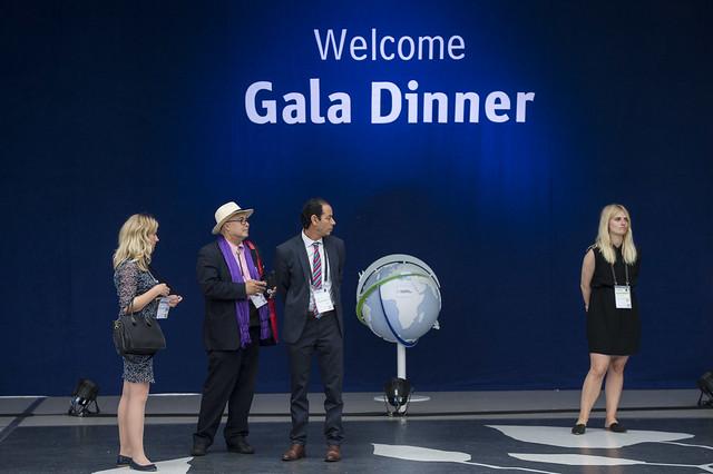 Corinna Staples, Sehl Zbiss and Chokri Wallani at Gala Dinner