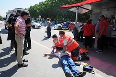 """Simulacre """"Salvem una Vida"""" (Ajuntament del Prat) Tags: elpratdellobregat elprat salutpúblicaiconsum cardioprotecció cor simulacre creuroja"""