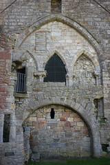 Inchcolm Abbey - Tower Detail (David_Leicafan) Tags: 50mmsummicronv4 inchcolm abbey island tower architecture arch capital foliate