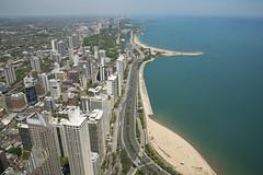Chicago north (jbarc in BC) Tags: chicago lakemichigan coastline beach buildings city water lake traffic walk