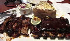 photo - BBQ Ribs, Tony Roma's, Orlando (Jassy-50) Tags: photo orlando florida tonyromasrestaurant tonyromas restaurant bbq barbecue bbqribs ribs beef meat bakedpotato potato coleslaw lime