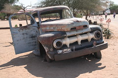 Namibia's Beauty:  Truck stop, Solitaire (ronmcbride66) Tags: solitaire namibia namibiasbeauty namib desert truck wreck truckstop ford fordtruck