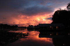 Sunset On The River Kwai (Jamie Hennessy Jackson) Tags: sunset sun sky dusk boat water reflection reflect colour colours cloud beauty beautiful nature river thailand atmospheric atmosphere clouds