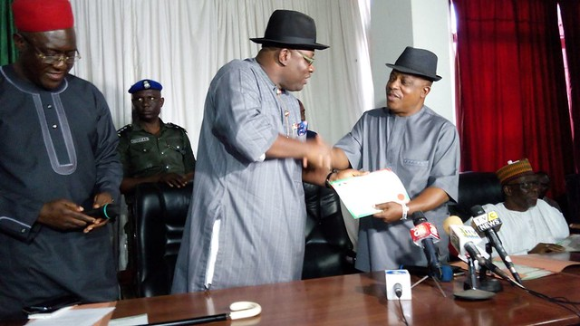 HSDickson- Recieves PDP governorship Ticket, Abuja. 29th Sept. 2015