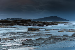 Moody and Rocky Seascape (Merrillie) Tags: daybreak theskillion nature water terrigal nsw rocky sea clouds newsouthwales rocks earlymorning morning landscape centralcoast ocean australia sunrise waterscape coastal outdoors sky seascape dawn coast cloudy waves