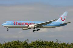 Thomson Airways - Boeing 767-304ER G-OBYG @ Cardiff (Shaun Grist) Tags: gobyg tom thomsonairways boeing 767 shaungrist cwl egff cardiff cardiffairport cardiffrhoose rhoose wales airport aircraft aviation aeroplanes airline avgeek landing 30
