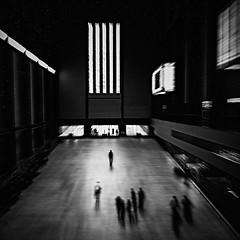 Mr solitude (HariRaj Ji) Tags: harirajji blur blurism blurrism tatemodern tate london nikon monochrome noir thankyou fortheloveofgrain littlepeople