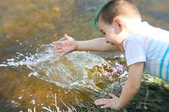 "Splash! (dreamscapesxx) Tags: canoneos80d lensbabyoriginal bytheriver myson splash growingup child ""chippewariver"" ""mtpleasantmi"""