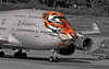 Tigre selective colour (vic_206) Tags: bcn lebl paint pintura amurtigerlivery eixld boeing747446 rossiyaairlines