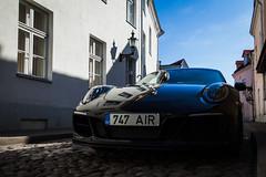 Something new in old town. (Marius K. Eriksen) Tags: tallinn porsche old town estonia new car auto autos