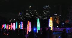 How many lightbulbs does it take to change a person? (Gunn Shots.) Tags: vividsydney2018 vividsydney sydney sydneybotanicalgardens australia cbdsydney newsouthwales totem afterdark nighttime citylights silhouette