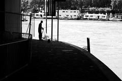 The street fisherman (pascalcolin1) Tags: paris12 homme man pêcheur fisherman seine rue street photoderue streetview urbanarte noiretblanc blackandwhite photopascalcolin ombre shadows lumière light 50mm canon50mm canon