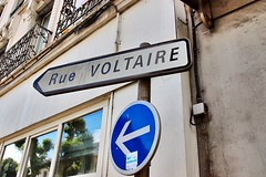 Rue Voltaire (Grenoble, France) (Haytham M.) Tags: philosophy thinkers voltaire france grenoble street rue