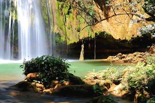 El Limón Little Waterfall, Samaná Peninsula, Dominican Republic