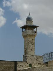The al-Fakhariyya Minaret - one of four on Temple Mount (IceCal) Tags: israel jerusalem templemount alfakhariyyaminaret