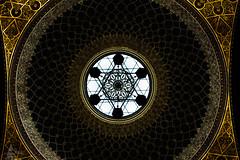 Spanish Synagogue (giordanotraini) Tags: prague czechrepublic spanishsynagogue dome light shadow lightandshadow geometric framing