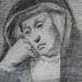 CONSTABLE John - Femme Religieuse assise (Louvre RF6115) - Detail 9