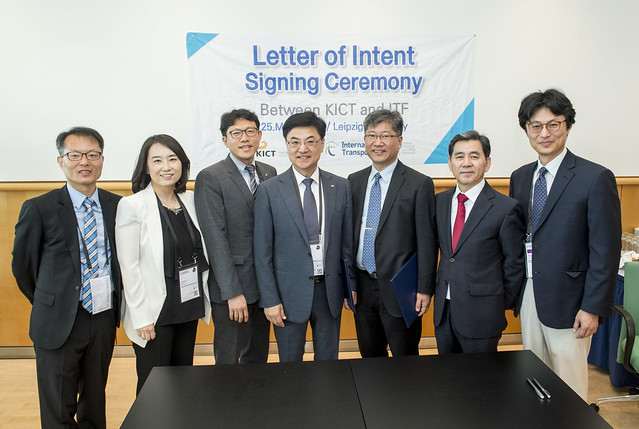 Family photo of the letter signing