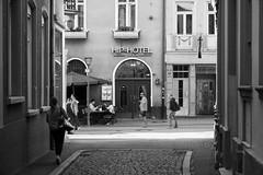 Hip-Hotel (John fae Fife) Tags: fujifilmx noiretblanc streetphotography badenwürttemberg monochrome streetscene street germany blackandwhite xe3 nb bw heidelberg