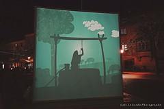 shadows in the night (gabi lombardo) Tags: ombre schatten shadows nightshot notturno gebäude edifici buildings luci lichter light telo windows fenster finestre