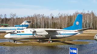 Antonov An.24RV c/n 07306601 registration EW-47291 preserved as Gomelavia at Minsk International Airport