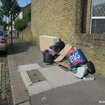 Malvern Road, Tottenham - Dumped bedbase & other rubbish - # 1 thumbnail