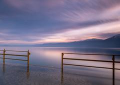 Lake Ohrid Sunrise (judepics) Tags: lakeohrid albania ll pogradec snow sunrise water longexposure firstlight
