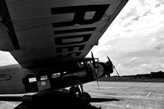 1929 Ford Tri-Motor (Adventurer Dustin Holmes) Tags: 2018 ford trimotor historic rides wing airplane aircraft aviation floydwjoneslebanonairport floydwjonesairport lebanonairport lebanonmissouri lebanonmo memorialdayweekend lacledecounty blackandwhite blackwhite bw