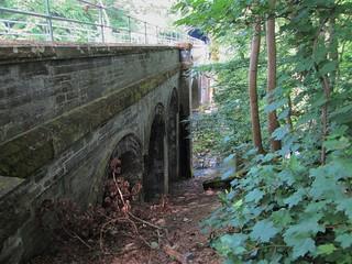 Bridge crossing the Afon Ogwen at the Tregarth tunnel, Twnnel Pendinas or Tynnal Tywyll Bethesda
