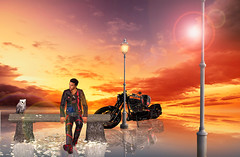 True beauty (ღ ṂὋἿᾋ ღ) Tags: secondlife sl secondlifephotography secondlifeavatar secondlifeavi oursecondlife fantasy sunset sky