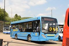 EC YX61BYB @ Pontypridd bus station (ianjpoole) Tags: edwards coaches alexander dennis enviro 200 yx61byb working route 100 pontypridd bus station royal glamorgan hospital ynysmaerdy