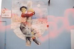 Gelsomina! (Liebe) (goodfella2459) Tags: nikon f4 af nikkor 50mm f14d lens kono liebe 200 35mm c41 film rimini italy gelsomina mural street art la strada giulietta masina federico fellini love hearts manilovefilm borgo san giuliano
