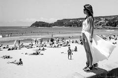 summer at Manly beach, Sydney 2017  #708 (lynnb's snaps) Tags: 35mm ilfordpanf100 manly xtol bw beach film 2017 girl sunbakers sunbathers surf coast sydney summer rangefindercameras people street australia leicaiiic blackandwhite bianconegro blackwhite biancoenero blancoynegro noiretblanc schwarzweis monochrome ishootfilm ©copyrightlynnburdekinallrightsreserved rangefinder barnack