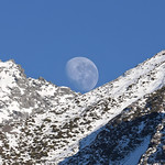 Moonset over Mt Sealy's slopes thumbnail