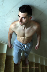 IMG_2169h (Defever Photography) Tags: male model 6pack stairs