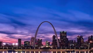 Saint Louis Blue Hour Skylne