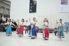 Faiths in Tune (2018) 34 - Dzogchen Khaita Dancers (KM's Live Music shots) Tags: worldmusic greatbritain italy dzogchenkhaitadancers tibetandance dancers faithsintune britishmuseum