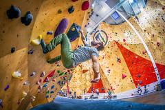 Bouldering 158/365 (stevemolder) Tags: brooklyn boulder 365 june fisheye 8mm canon rebel rock climbing