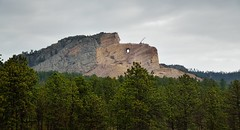 Knowing That They Have Great Heroes Also (Crazy Horse Memorial (thor_mark ) Tags: nikond800e azimuth37 lookingne crazyhorsememorial oglalalakotawarrior crazyhorse ridinghorse oglalalakota commissionedbyhenrystandingbear sculptedbykorczakziolkowski thunderheadmountain northamericaplains greatplains blackhills southernblackhills camranger capturenx2edited colorefexpro cloudy overcast travel miscellaneous outside landscape trees hillsideoftrees rollinghillsides evergreentrees evergreens mountains mountainsindistance mountainsoffindistance pah‡s‡pa southdakota unitedstates pahásápa