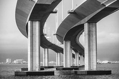 Behind Me Now (Thomas Hawk) Tags: america bayarea baybridge california sf sfbayarea sanfrancisco usa unitedstates unitedstatesofamerica bridge bw oakland us fav10 fav25 fav50 fav100