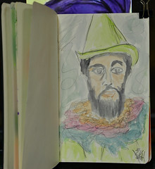 """Henri"" (BKHagar *Kim*) Tags: bkhagar art artwork artday sketch drawing journal watercolor watercolour henridetoulouselautrec"