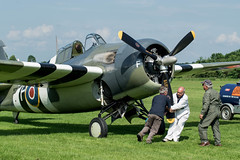 DSC_0821-2.jpg (Will Cave) Tags: wildcat martlet grumman f4f invasionstripes radial ground crew priming starting shuttleworth display airshow flynavy planes aircraft