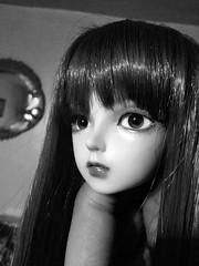 Angela en Noir (Josie&theKILLER_DOLLS) Tags: halloweeneventhead 2014 minifee fairyland jose faceup balljointeddoll bjd josiethekillerdolls