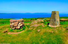 Scotland West Highlands Argyll the summit markers of the island of Cumbrae 28 May 2018 by Anne MacKay (Anne MacKay images of interest & wonder) Tags: scotland west highlands argyll summit markers island cumbrae sea mountain landscape xs1 28 may 2018 picture by anne mackay