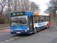 Stagecoach Manchester 33091 (R574 ABA) (SelmerOrSelnec) Tags: stagecoachmanchester dennis dart plaxton r574aba hyde newton victoriastreet 346 cooper denniss bus