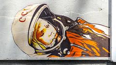 cccp (bilderkombinat berlin) Tags: ⨀2018 berlin berlinstreetart oderberger capital city eu art streetart germany cccp prenzlauerberg wheatpaste pasteup astronaut vip gagarin orange