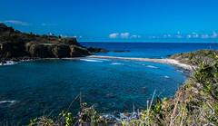 That's one skinny beach! (tquist24) Tags: atlanticocean caribbean caribbeansea mermaidschair nikon nikond5300 outdoor stthomas usvirginislands virginislands beach blue geotagged island landscape nature ocean seascape sky tropical water cloud clouds
