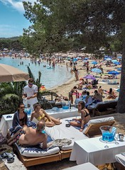 Playa Cala Bassa, Ibiza. (CWhatPhotos) Tags: playacalabassa playa cala bassa ibiza spain beach popular sand sea hot sunny people cwhatphotos photographs photograph pics pictures pic picture image images foto fotos photography artistic that have which contain olympus camera holiday holidays hols hol june 2018 ibizan